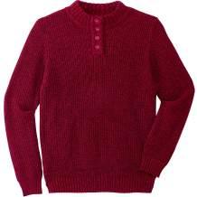 KingSize Men's Big & Tall Henley Shaker Sweater