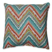 Pillow Perfect Throw Pillow, 16.5-Inch, Chevron Cherade
