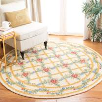 Safavieh Chelsea Collection HK62A Hand-Hooked Ivory Premium Wool Round Area Rug (3' Diameter)
