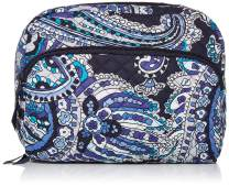 Vera Bradley Women's Signature Cotton Lay Flat Cosmetic Makeup Bag