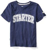 Starter Boys' Short Sleeve Mesh-Logo T-Shirt, Amazon Exclusive