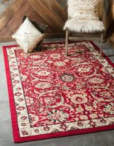 Unique Loom Espahan Collection Classic Traditional Red Area Rug (5' 0 x 8' 0)