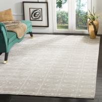 Safavieh Mirage Collection MIR523B Hand-Knotted Silver Wool Area Rug (9' x 12')