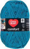 Red Heart Comfort Yarn-Teal Fleck