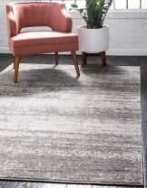 Unique Loom Del Mar Collection Contemporary Transitional Gray Area Rug (10' 0 x 13' 0)