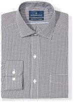Amazon Brand - BUTTONED DOWN Men's Classic Fit Gingham Dress Shirt, Supima Cotton Non-Iron