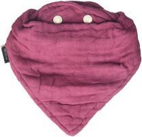 Bebe au Lait Oh So Soft Luxury Muslin Bandana Bib, 4-Layer Muslin Design, Stylish Pattern - Cherry