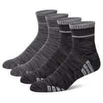 u&i Men's Performance Cushion Cotton Athletic Quarter Crew Socks (4-Pack/8-Pack)