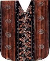 LA LEELA Women's Maxi Caftan Kimono Dresses Loungewear Cover Ups Hand Batik A