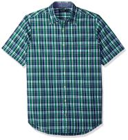 Nautica Big and Tall Short Sleeve Classic Fit Plaid Button Down Shirt