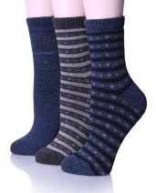 EBMORE Womens Thick Cotton Socks Soft Warm Crew Winter Cold Weather Socks 3 Pack