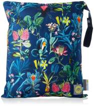 """Itzy Ritzy Sealed Wet Bag with Adjustable Handle – Washable and Reusable Wet Bag with Water Resistant Lining Ideal for Swimwear, Diapers, Gym Clothes & Toiletries; Measures 14"""" x 17"""", Jungle Floral"""