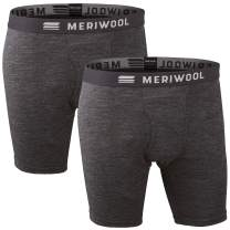 MERIWOOL Mens Boxer Briefs Merino Wool Underwear Base Layer for Men