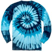 Magic River Long Sleeve Handcrafted Tie Dye T Shirts - 6 Adult Sizes - 5 Color Patterns
