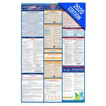 AR Labor Law Poster, 2020 Edition - State, Federal and OSHA Compliant Laminated Poster (Arkansas, English)