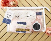 Kate Aspen, Gold Glam Travel Kit, Gift Set with Eye Masks and Soft Minky Socks and more