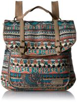 Sakroots Women's Convertible Backpack, pacific one world