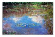 Monet Wall Art Collection WC-42MONET-3040 Water Lily Pond #4 by Claude Monet Canvas Prints Wrapped Gallery Wall Art | Stretched and Framed Ready to Hang 30X40