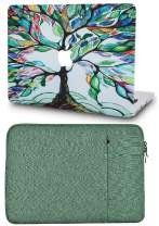 """KECC Laptop Case for MacBook Air 13"""" Retina (2020/2019/2018, Touch ID) with Sleeve Plastic Hard Shell Case A2179/A1932 2 in 1 Bundle (Colorful Tree)"""