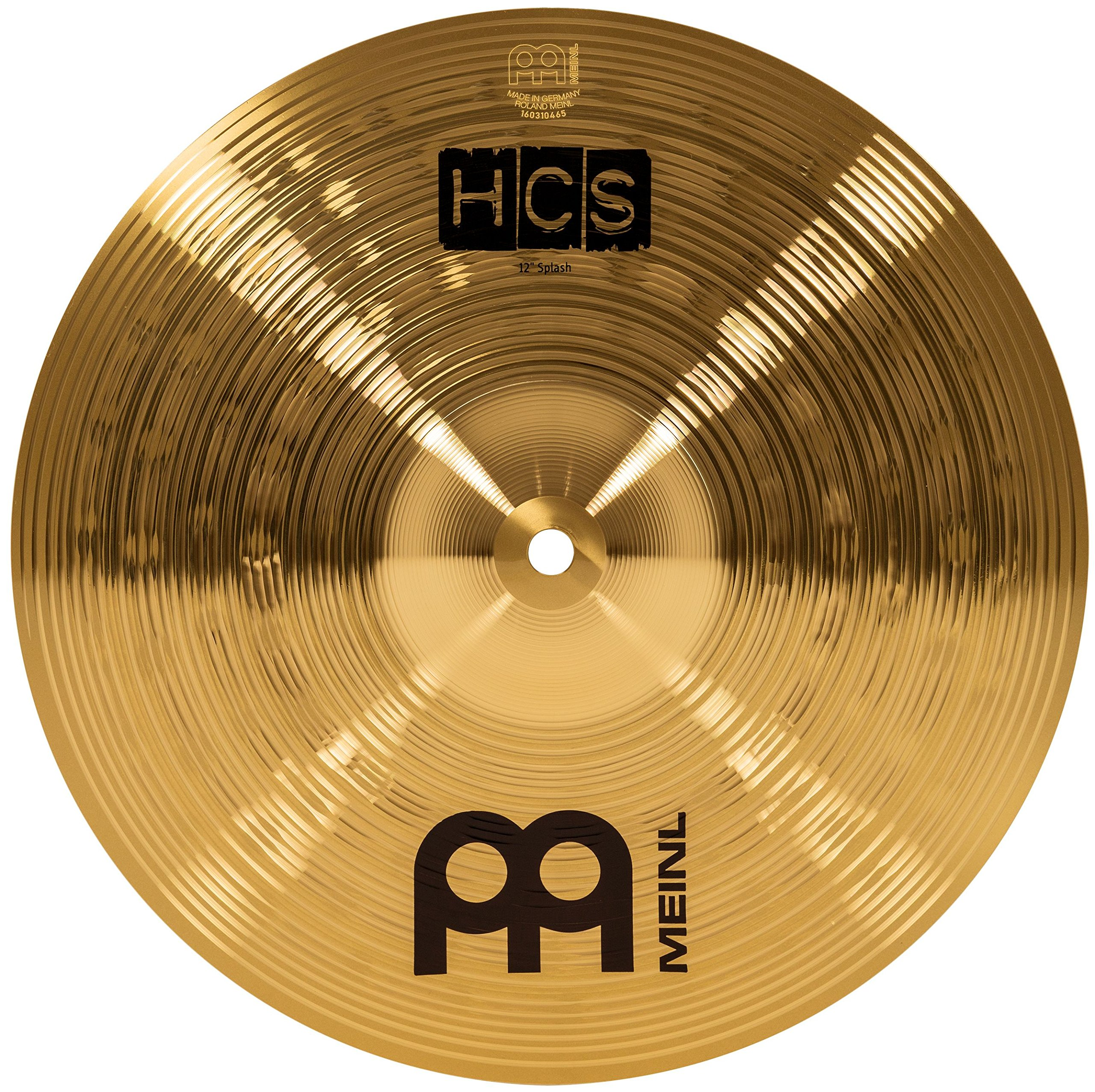 """Meinl 12"""" Splash Cymbal – HCS Traditional Finish Brass for Drum Set, Made In Germany, 2-YEAR WARRANTY (HCS12S)"""