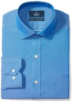 Amazon Brand - Buttoned Down Men's Tailored Fit Spread Collar Solid Non-Iron Dress Shirt