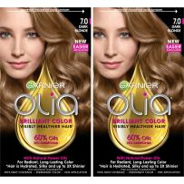 Garnier Olia Ammonia-Free Brilliant Color Oil-Rich Permanent Hair Color, 7.0 Dark Blonde (Pack of 2) Blonde Hair Dye