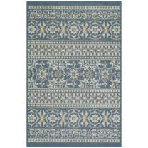 Maples Rugs Zoe Kitchen Rugs Non Skid Accent Area Carpet [Made in USA], 2'6 x 3'10, Blue