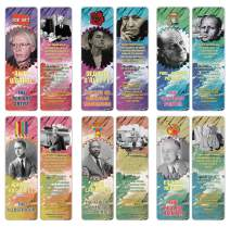 Creanoso Historical Fact American Famous Artists Bookmark Cards (60-Pack) – Learning Reading Bookmarks Collection Set – Stocking Stuffers for Boys, Girls, Kids – Classroom Incentives - Gift Tokens