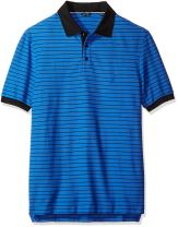 Nautica Men's Big and Tall Big & Tall Short Sleeve Striped Polo Shirt