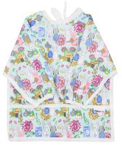 Pikababy Long Sleeved Bib Waterproof Bibs with Pocket - 6 to 24 Months Baby Girl and boy Colors (Rabbit)