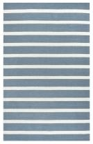 """Rizzy Home Azzura Hill Collection Polypropylene Area Rug, 2'6"""" x 8', Gray/Ivory"""