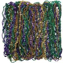 "Party City Mardi Gras Bead Supplies, 30"" Long Necklaces, 1152 Count, Includes Purple, Green, and Gold"