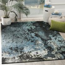 Safavieh Glacier Collection GLA124B Modern Contemporary Abstract Area Rug, 4' x 6', Blue/Multi