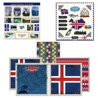 Scrapbook Customs Themed Paper and Stickers Scrapbook Kit, Iceland Sightseeing