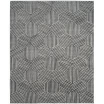 Safavieh Mirage Collection MIR351A Light Grey and Charcoal Area Rug, 9' x 12'