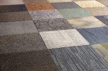 """Nance Industries Peel and Stick 500 Square Feet Commercial Carpet Tile, 20""""x20"""", Assorted Colors, 180 Tiles"""