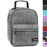 OPUX Premium Insulated Lunch Box for Boys, Girls   Durable Leakproof School Lunch Bag with Handle Clip, Mesh Pocket   Reusable Work Lunch Pail Cooler for Adult Men, Women   Fits 14 Cans (Heather Grey)