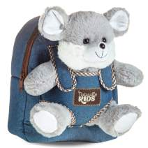 Cute Backpack w Stuffed Animal Rat - Kids Backpack Plush Toys for 3 Year Old Girls, two 2 yo Boys Toddler Backpack w Toy Mouse - Small Childs Backpack Gifts for 3 Year Girl, Toys for 3 Year Old Boys