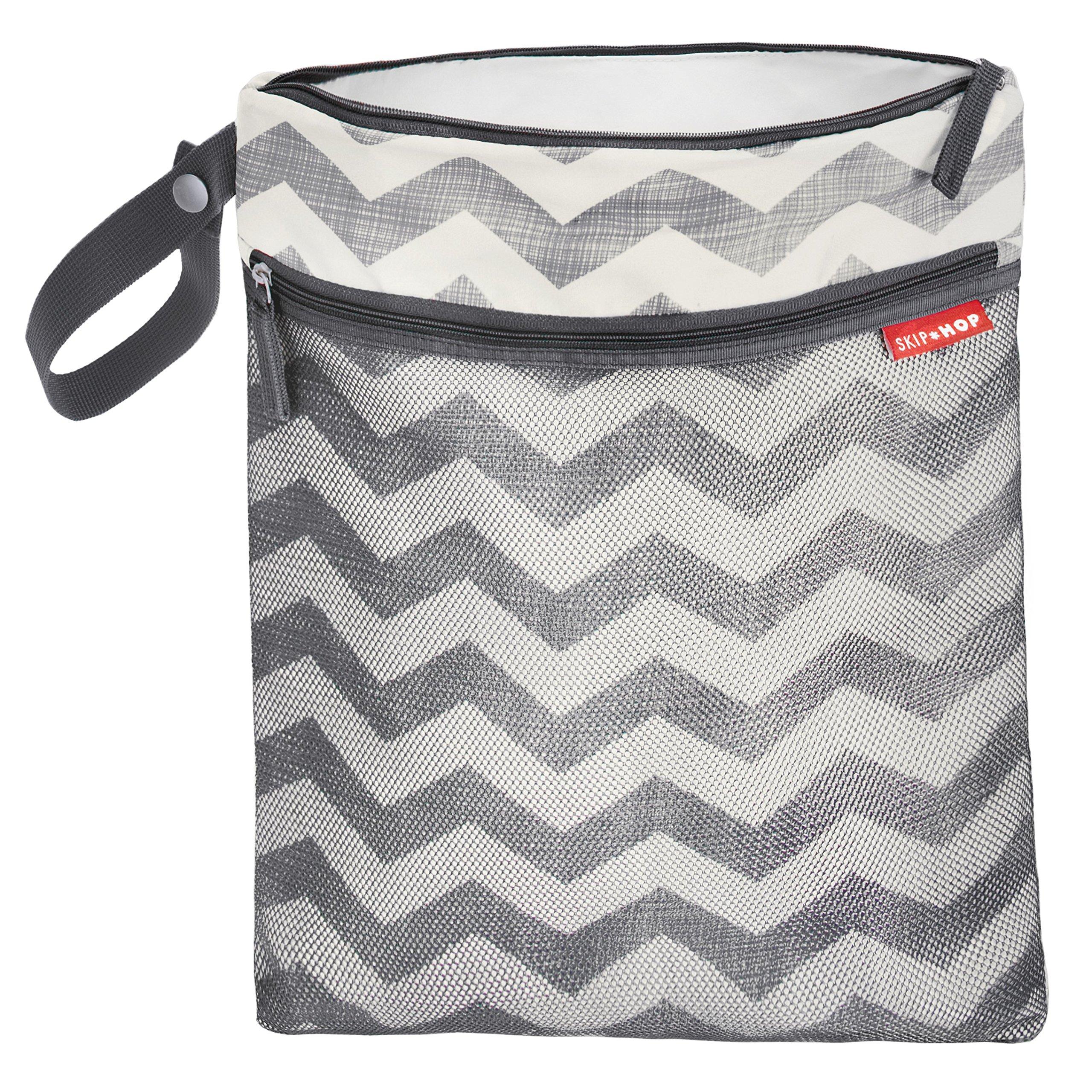 Skip Hop Grab and Go Wet/Dry Diaper Bag, Chevron