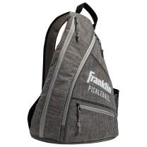 Franklin Sports Pickleball Bag - Men's and Women's Pickleball Backpack - Adjustable Sling Bag - Official Bag of U.S Open Pickleball Championships - Gray/Gray