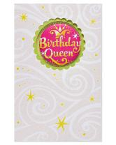 American Greetings Funny Birthday Queen Birthday Card with Glitter