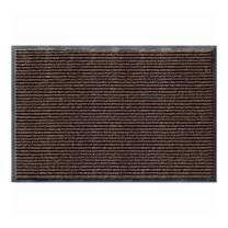 AmazonBasics Poly Linear-Rib Commercial Carpet Vinyl-Backed Mat 3X4 Brown