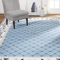 "Home Dynamix Lyndhurst Sheraton Area Rug, 7'8""x10'7"" Rectangle, Light Blue"