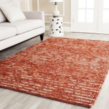 Safavieh Bohemian Collection BOH525C Hand-Knotted Rust and Multi Jute Area Rug (5' x 8')