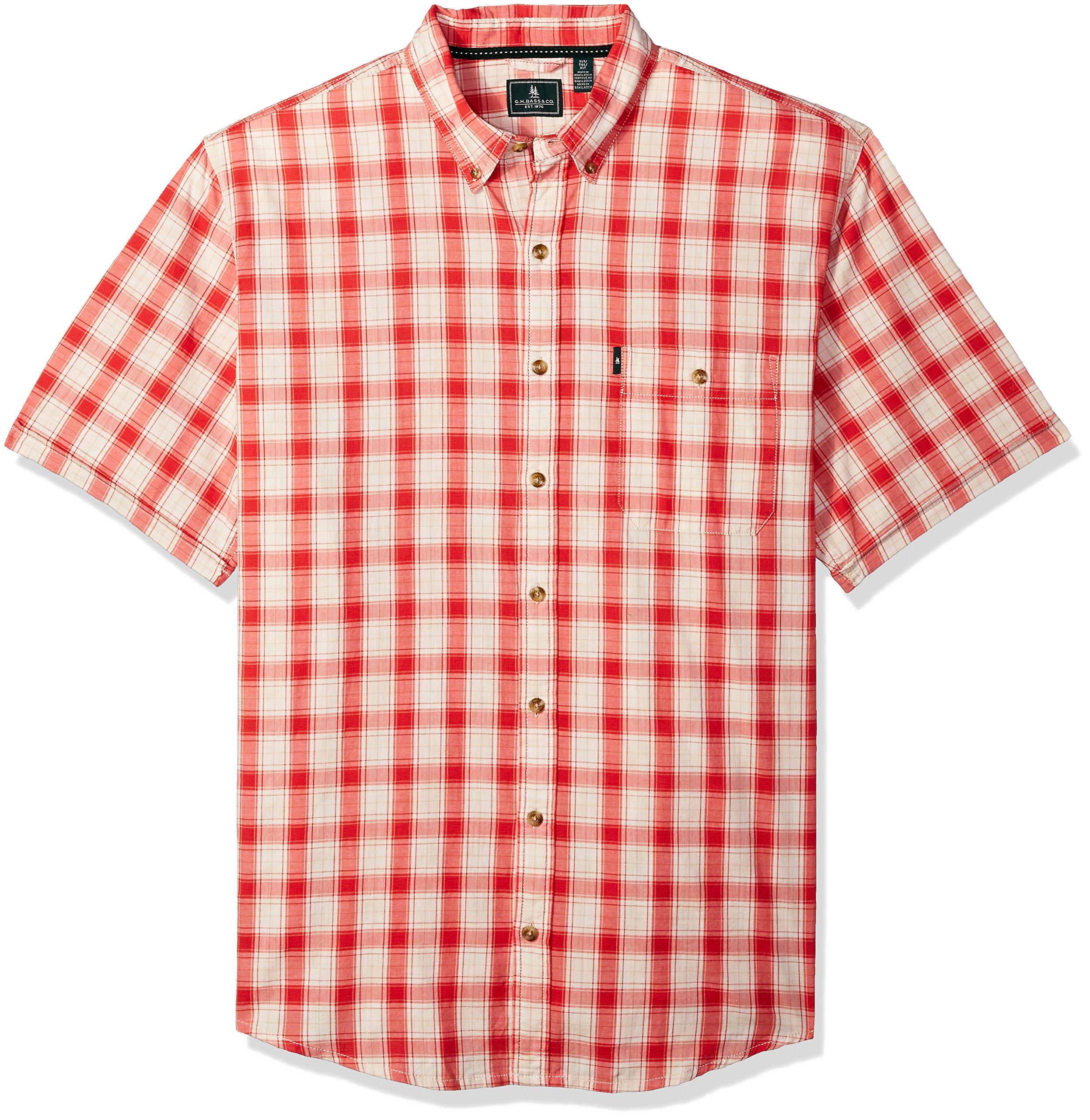 G.H. Bass & Co. Men's Big and Tall Madawaska Short Sleeve Shirt