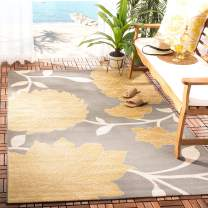 """Safavieh Courtyard Collection CY7321-246A2 Anthracite and Beige Indoor/ Outdoor Area Rug (2' x 3'7"""")"""
