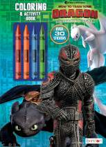 Dreamworks Dragons Bendon 37231 How to Train Your Dragon 3 Coloring & Activity Book with Crayons, Multicolor