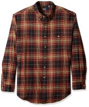 Arrow 1851 Men's Big and Tall Saranac Flannel Long Sleeve Button Down Shirt