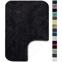 """Maples Rugs ColorSoft Non Slip Washable & Quick Dry Soft Bathroom Rugs [Made in USA], 23.5"""" x 39"""", Rich Black"""