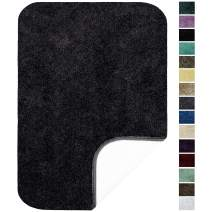"""Maples Rugs ColorSoft Non Slip Washable & Quick Dry Soft Bathroom Rugs [Made in USA], 20"""" x 34"""", Rich Black"""